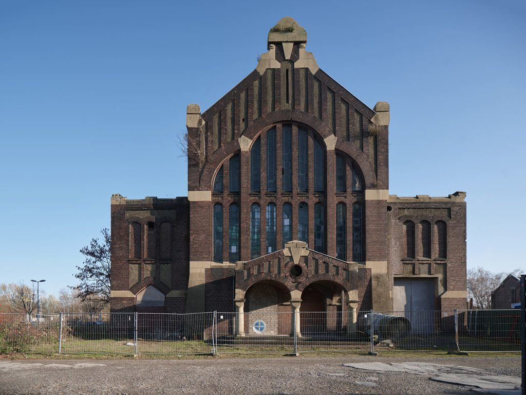 Lohnhalle der Zeche Westhausen,  in Dortmund Bodelschwingh, 1906, Architekt Paul Knobbe