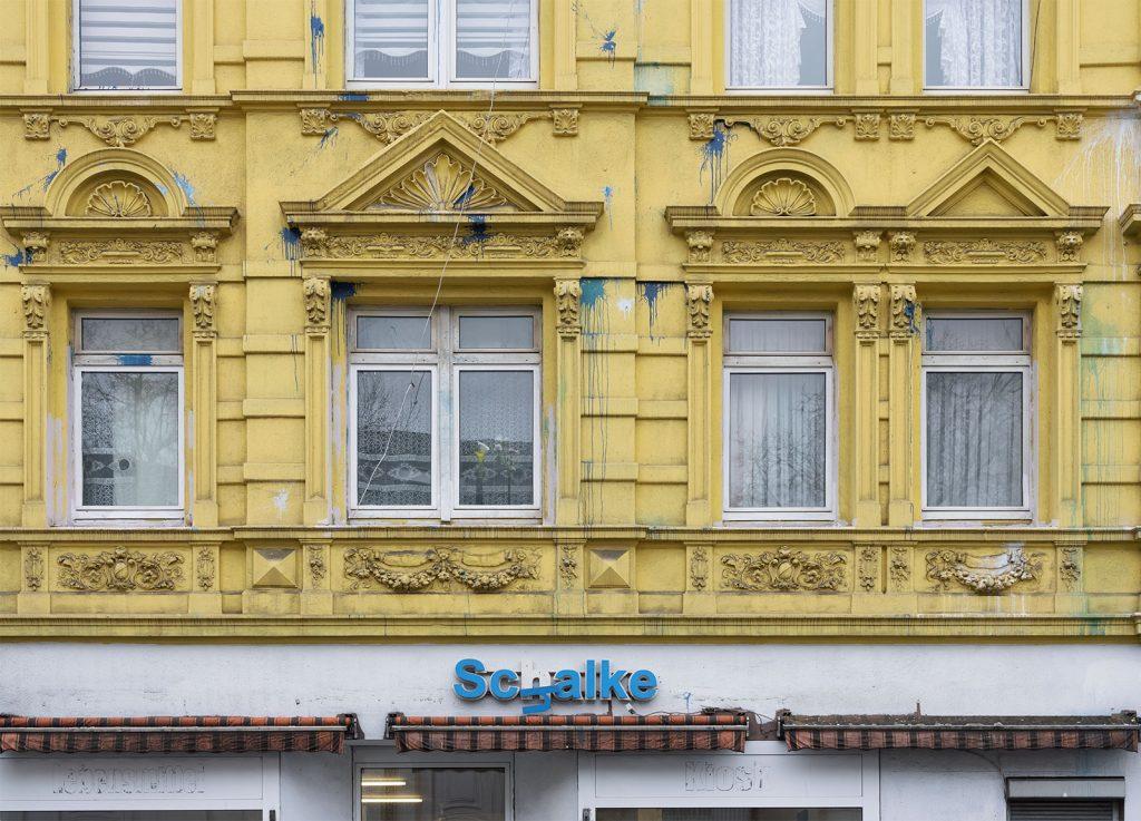 Gelsenkirchen Schalke, Ecke Kurt-Schumacher-Sraße/Uechtingstraße (an der Schalker Meile)